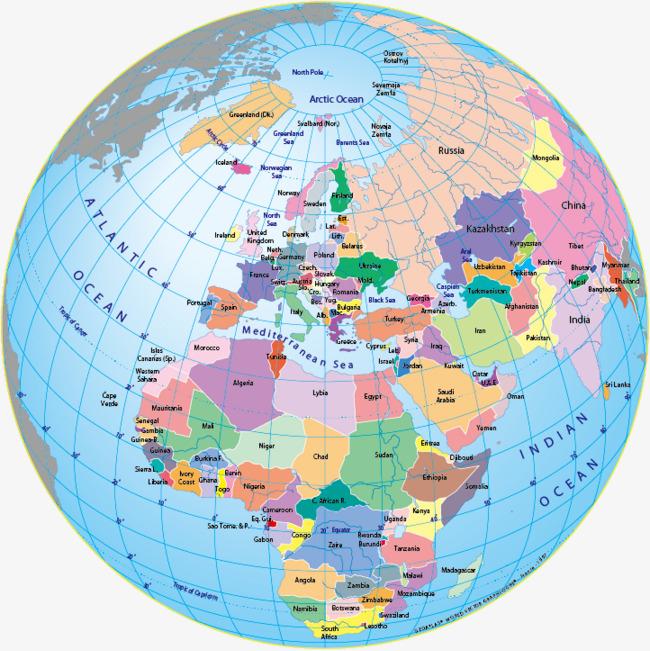 650x651 World Globe Map Free Download Globe Vector Colored Cartoon Globe
