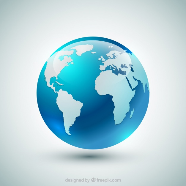 626x626 Blue Earth Globe Vector Free Download