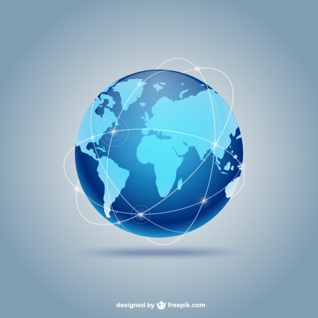 626x626 Blue Globe Vector Free Download