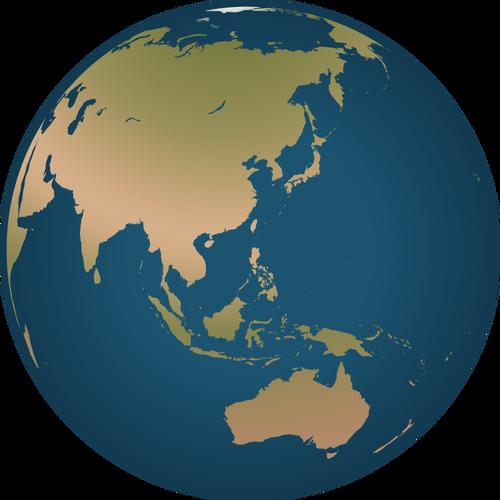 500x500 Australia Location On Globe Vector Illustration Public Domain