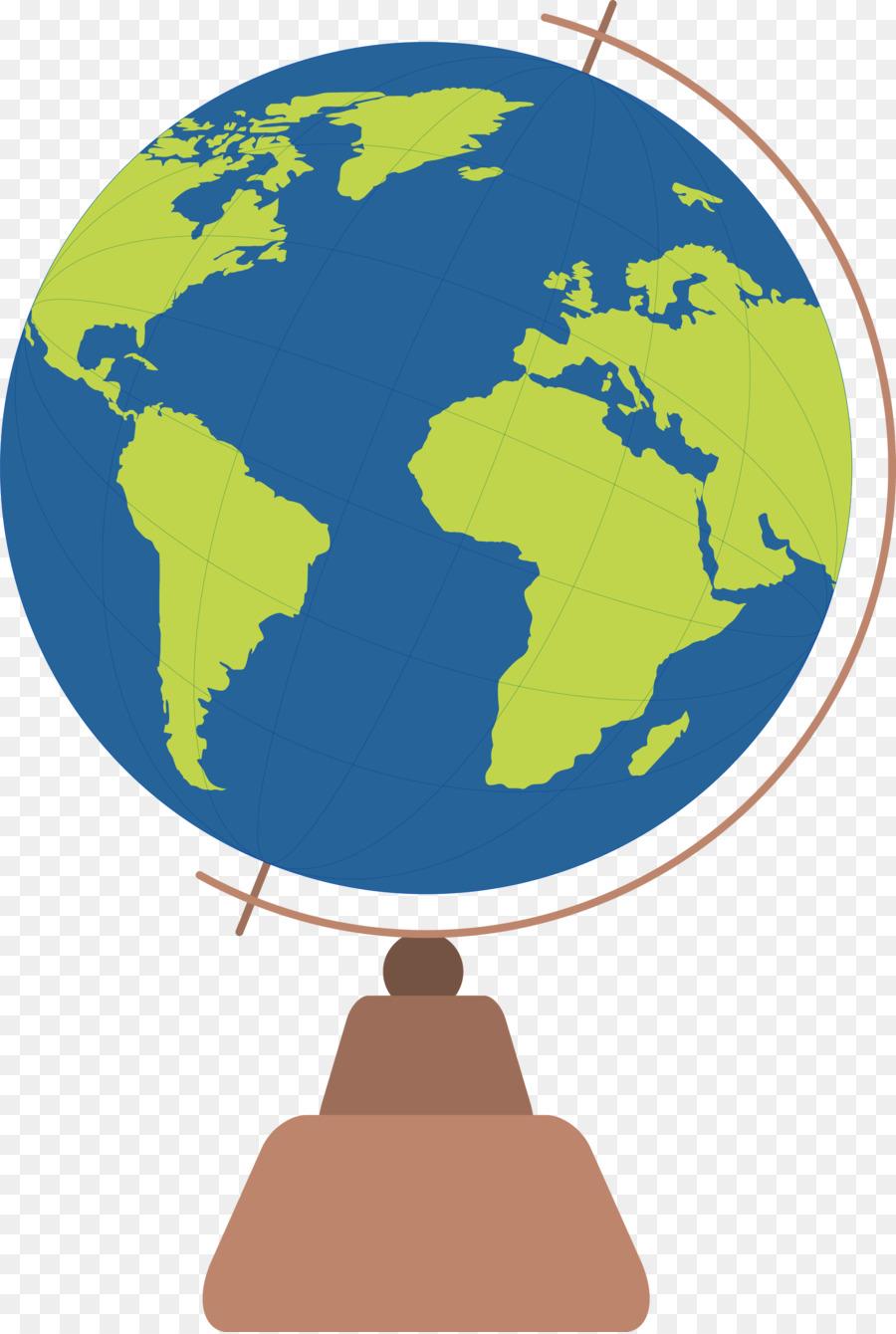 900x1340 World Map Globe