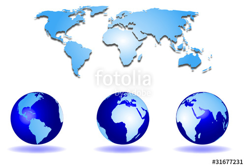 500x340 Mapa Mundial Y Globo Terraqueo Stock Image And Royalty Free