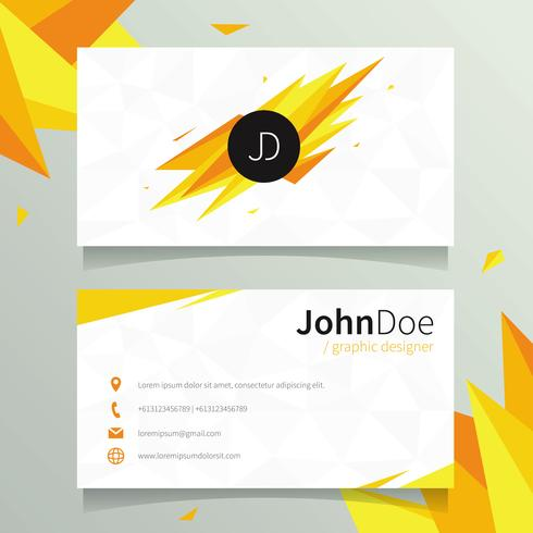 490x490 Graphic Designer Name Card Template