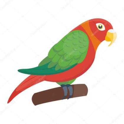 420x420 Tag For Vector Bird Cartoon Parrot Vector Bird Stock Luplupme