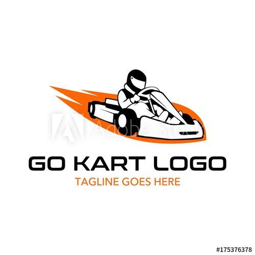 500x500 Go Kart Logo Illustration