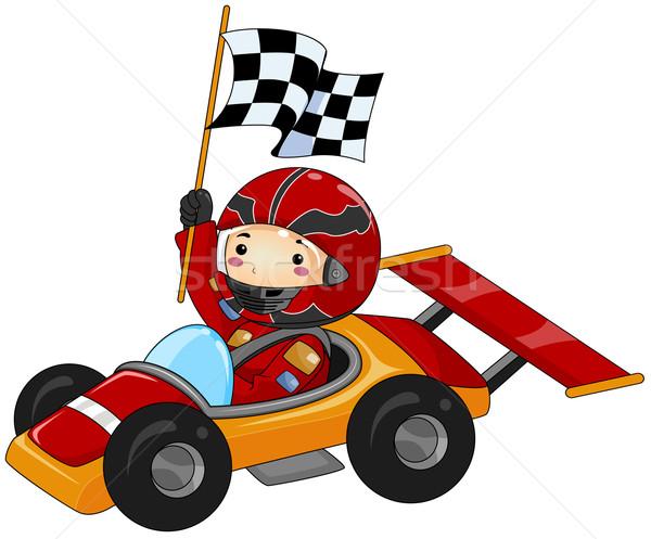 600x497 Go Kart Vector Illustration Lenm ( 412097) Stockfresh