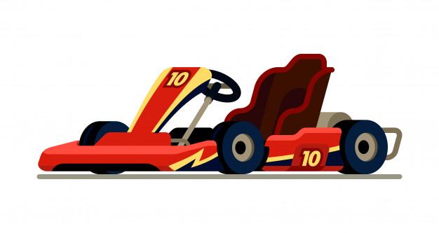 626x333 Go Kart Racing In Modern Flat Style Vector Premium Download