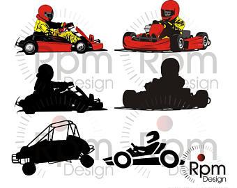 340x270 Race Car Svg File Indy Sprint Car Go Kart Stock Car Etsy