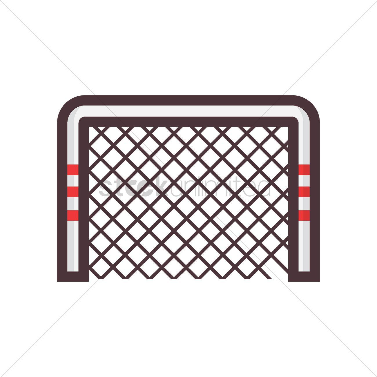 1300x1300 Hockey Goal Vector Image