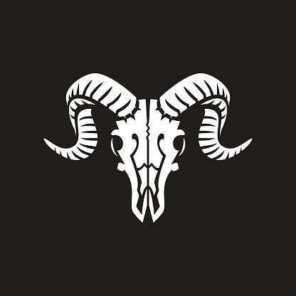 416x416 Ram Skull Vector Art Illustration Skeletor Ram
