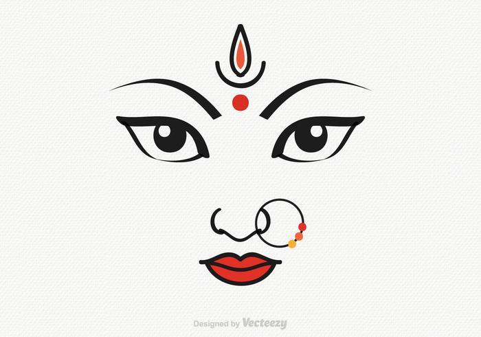 700x490 Vector Goddess Durga Illustration
