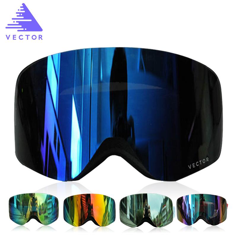 800x800 Vector Brand Ski Goggles With Case Double Lens Uv400 Anti Fog Ski