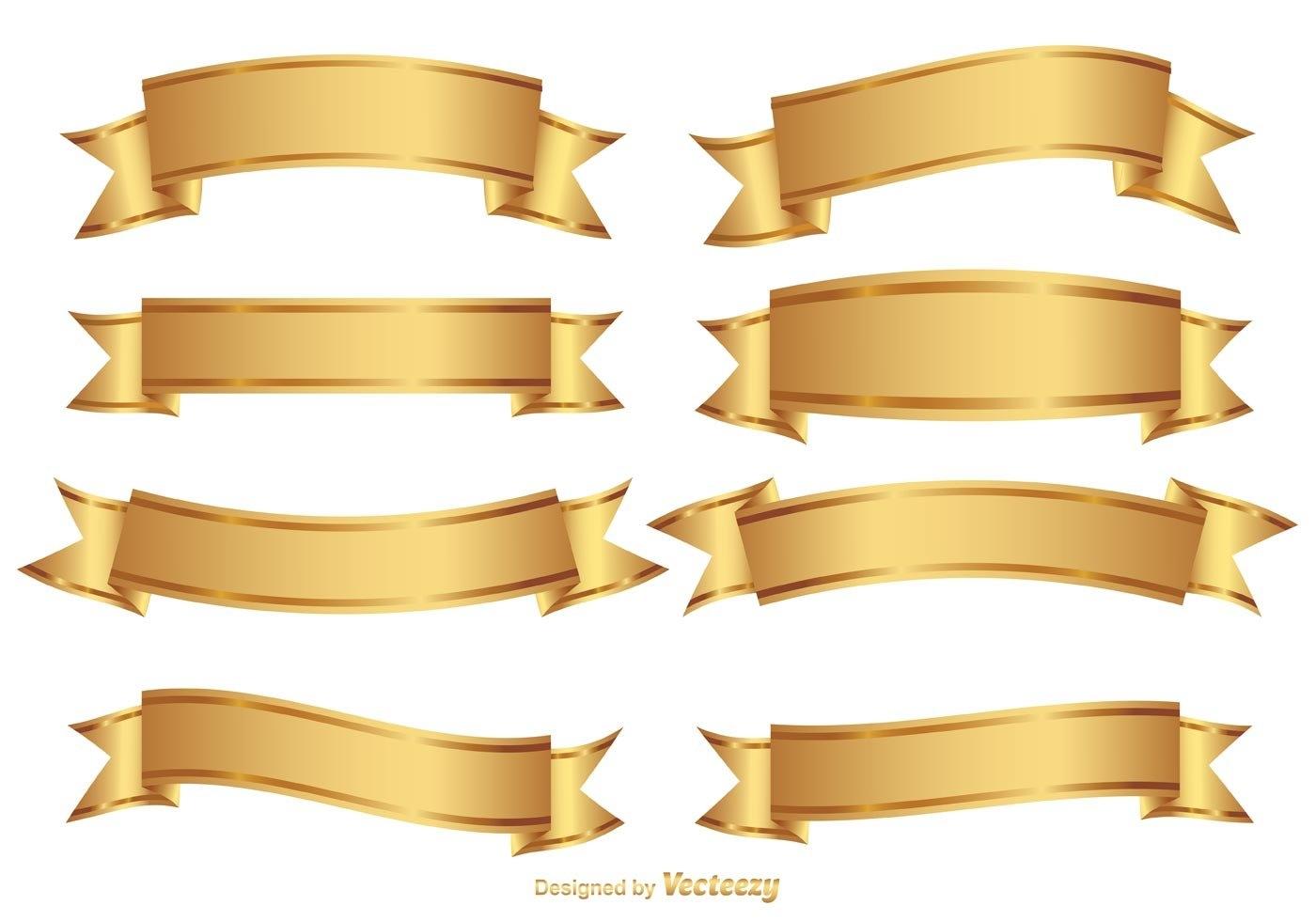 1400x980 Gold Banner Vector Free Design Templates