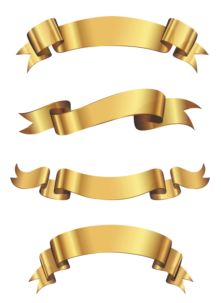 747x1024 Gold Banners Vectors Free