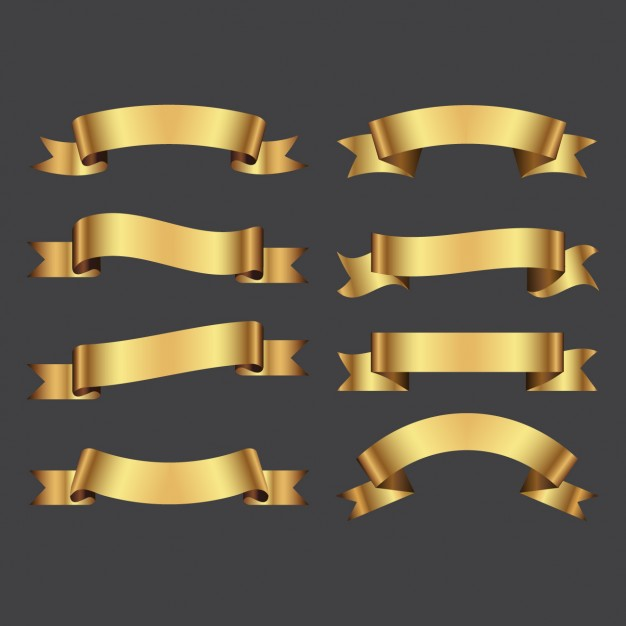 626x626 Gold Ribbon Vectors, Photos And Psd Files Free Download