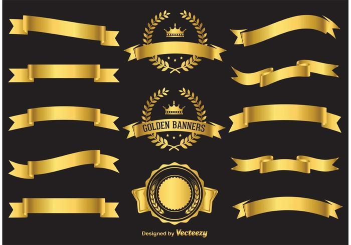 700x490 Gold Vector Banners
