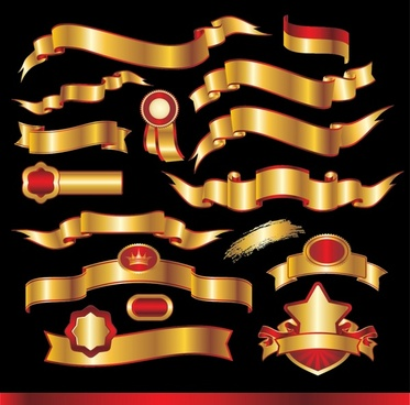 373x368 Gold Banner Free Vector Download (11,682 Free Vector) For