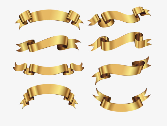 650x489 Vector Gold Banner, Decoration, Colored Ribbon, Gold Color Png And