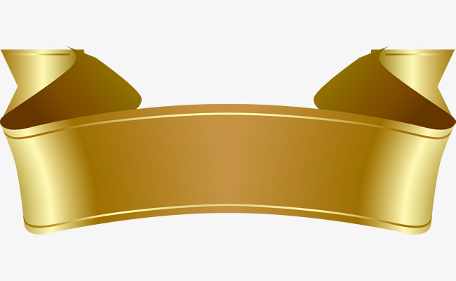 650x400 Vector Hand Painted Gold Banners, Vector, Hand Painted, Gold Png