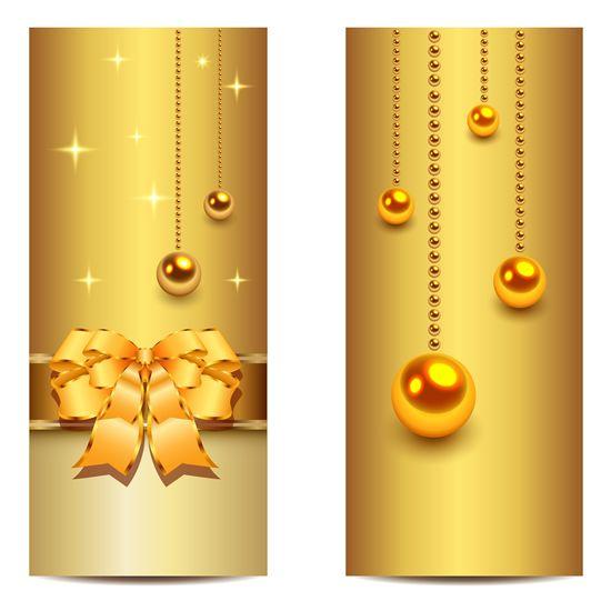 550x550 Christmas Golden Banner Vector Material 1 Printable Paper
