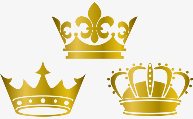 650x400 Gold Crown Lovely Vector Material, Crown Material, Crown Vector