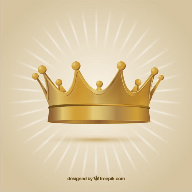 626x626 Gold Crown Vector Free Download