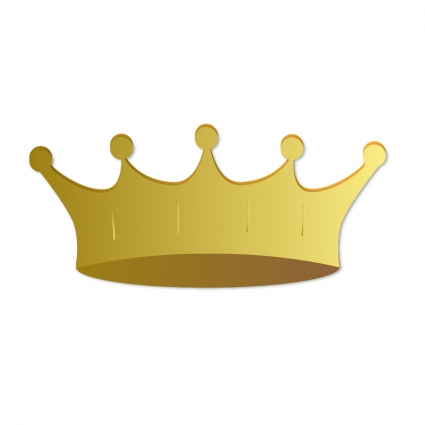 425x425 Gold Crown Vector Free Vector Download In .ai, .eps, .svg Format