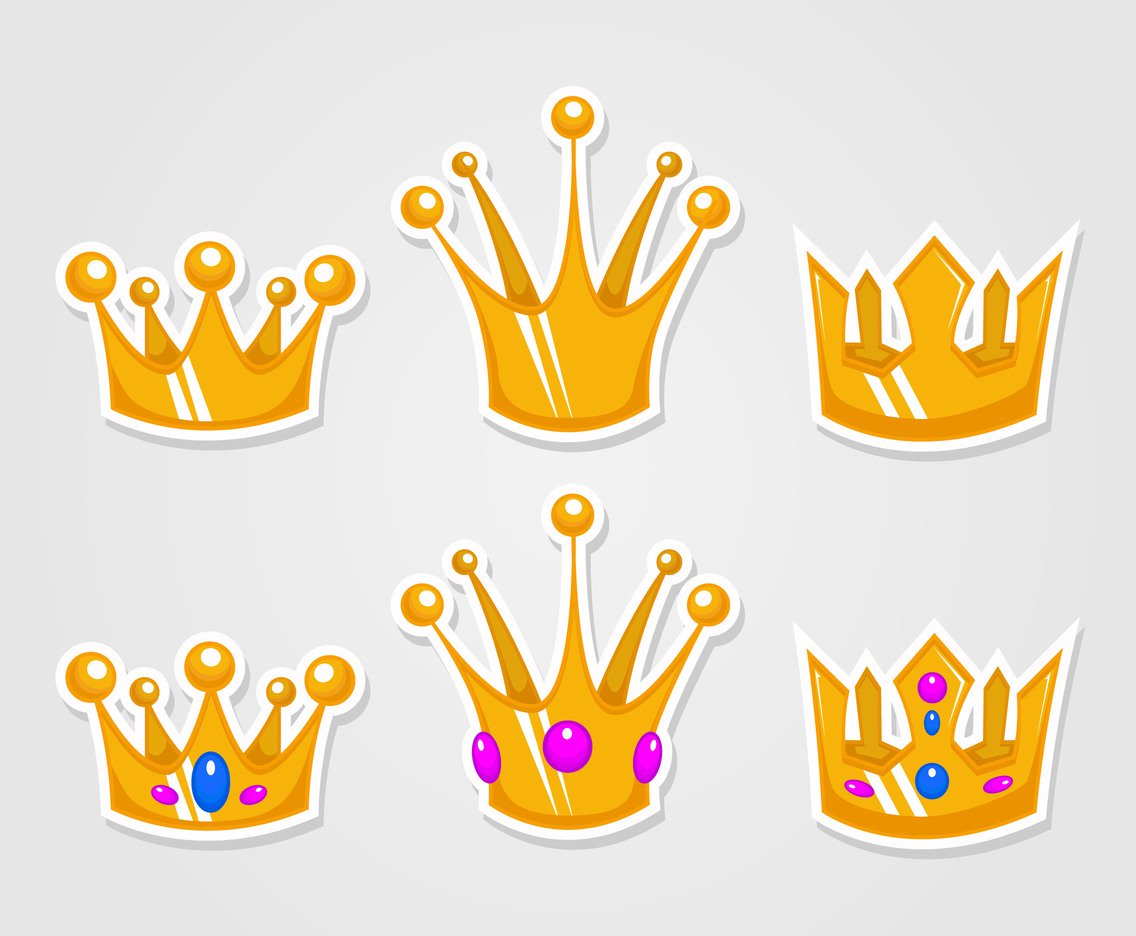 1136x936 Cartoon Gold Crown Vectors Vector Art Amp Graphics