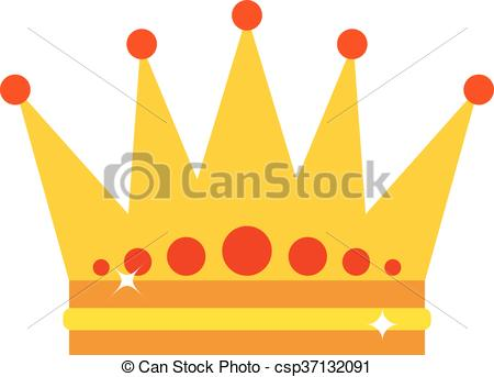 450x343 Gold Crown Vector Illustration. Gold Crown Isolated On White