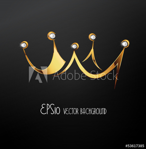 490x500 Golden Crown, Vector