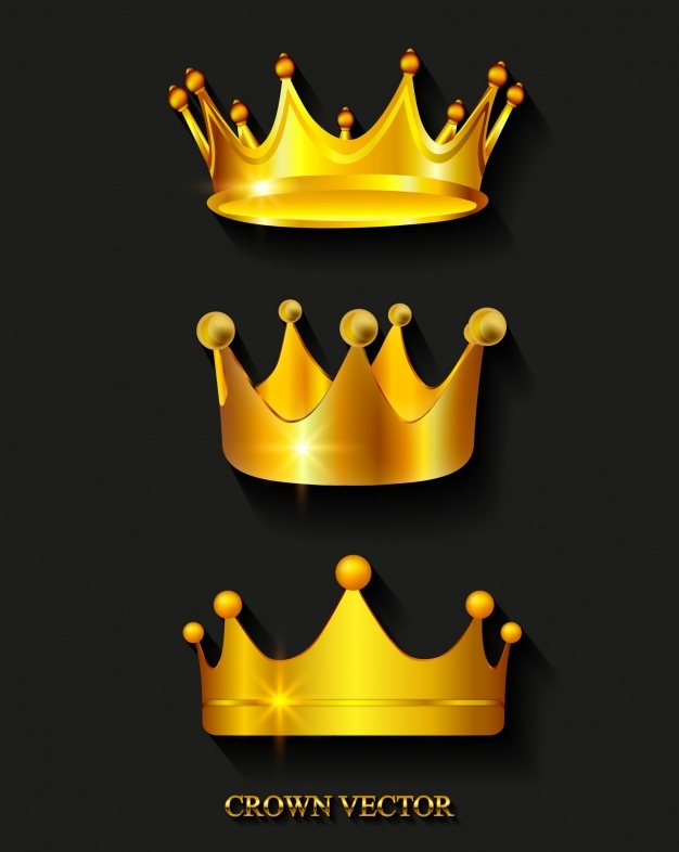 626x786 Golden Crowns Vector Free Download