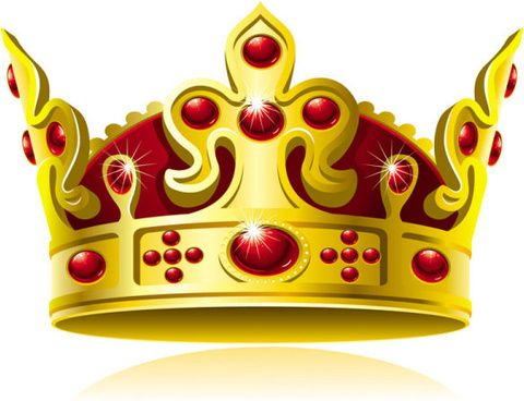 480x368 Set Of Gold Color Crown Vector Koruny