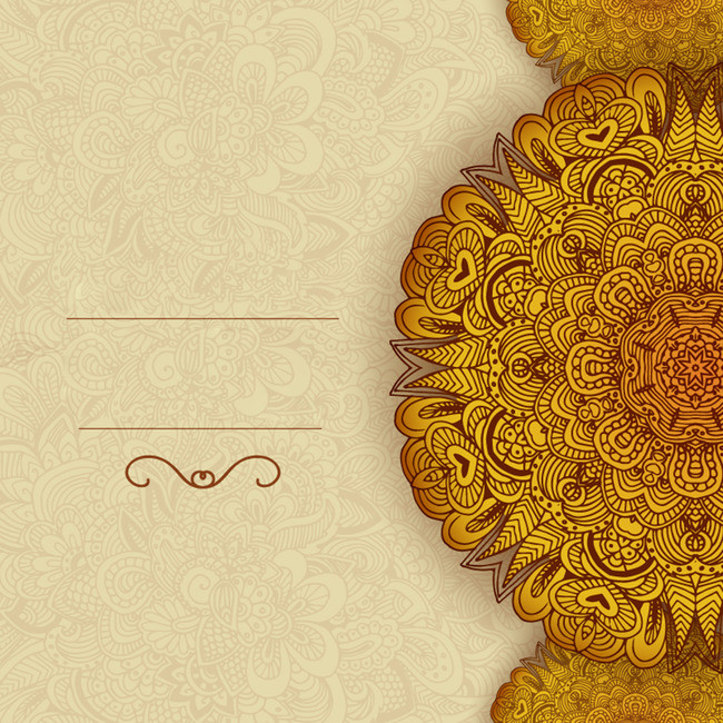 650x650 Gold Pattern Disk Card Design Vector Background Material, Vector