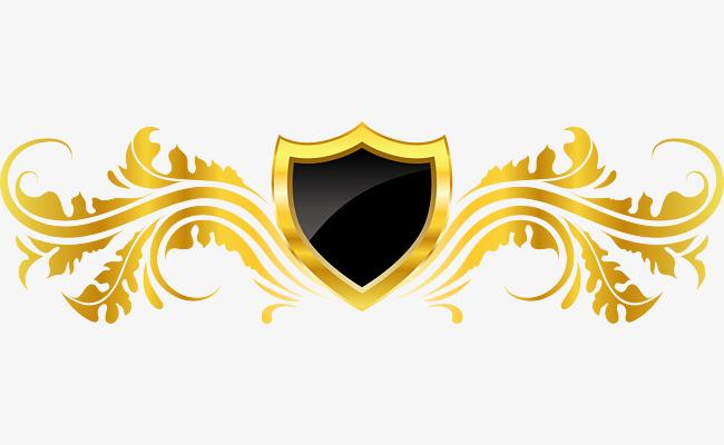 650x400 Vector European Decorative Golden Badge Design, Badge Vector