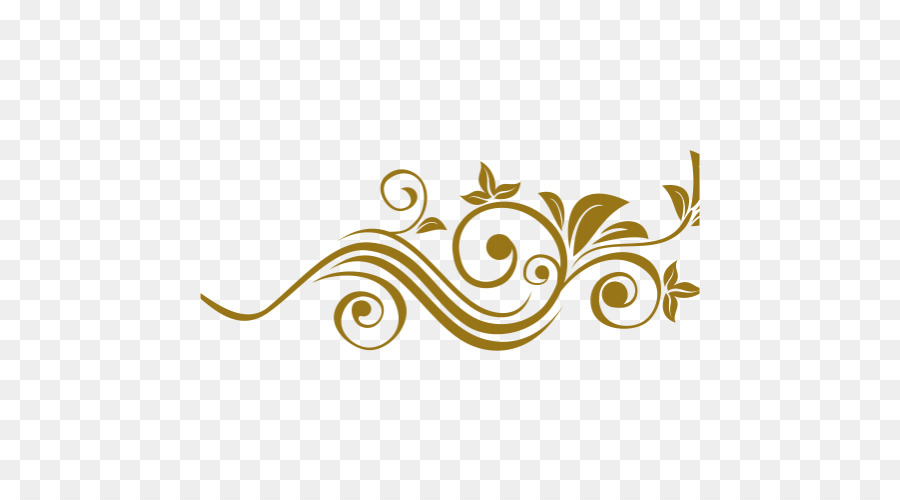 Gold Floral Vector