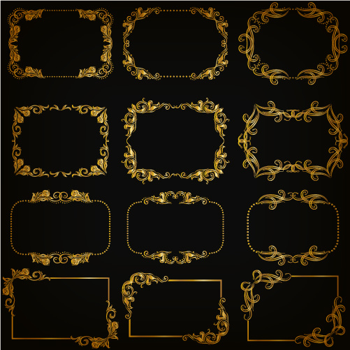 501x501 Gold Frame Shiny Vector Set Free Vector In Encapsulated Postscript