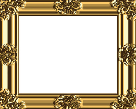 458x368 Antique Gold Frame Vector Free Vector Download (8,375 Free Vector