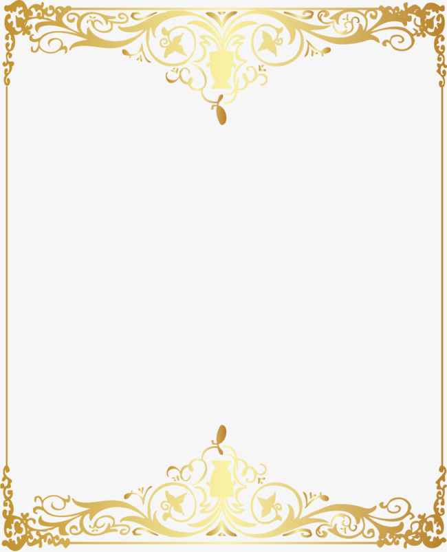 650x803 Vector Gold Pattern Frame, Vector, Golden, Pattern Png And Vector