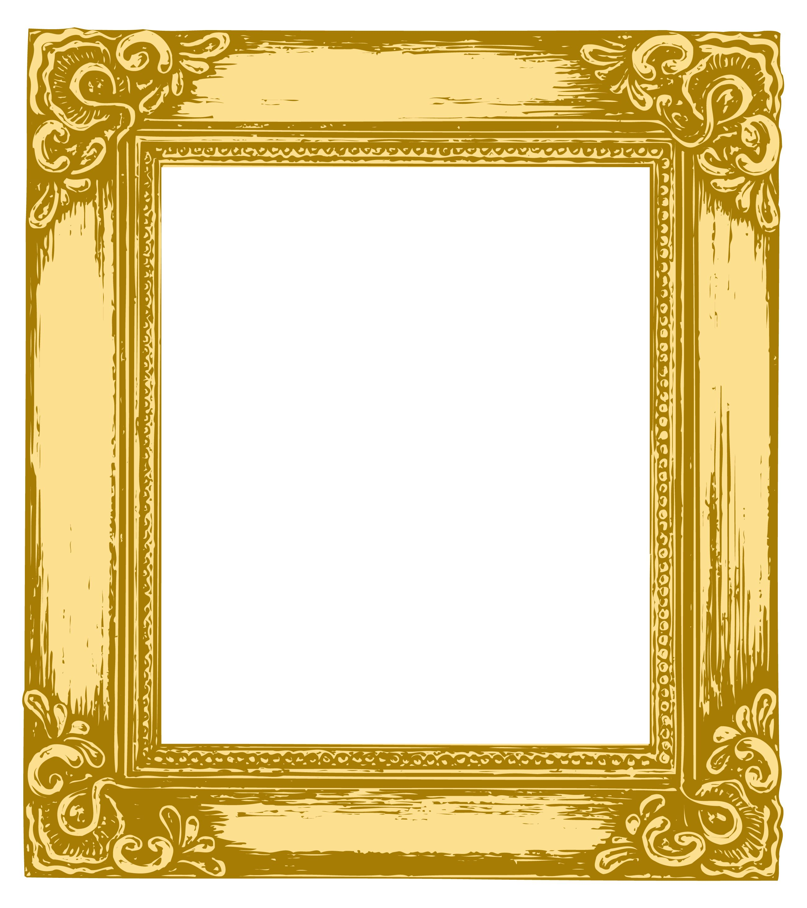 2598x2923 Free Vector Antique Gold Frame Vector Graphic Available For Free