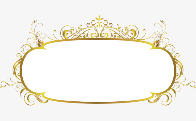 650x400 Gold Frame, Vector Ancient Box, Frame, Ancient Frame Material Png