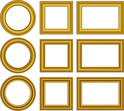 425x381 Free Download Of Gold Frame Vector Graphics And Illustrations