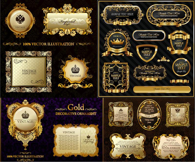 800x663 Gold Decorative Frames Vector Vector Graphics Blog