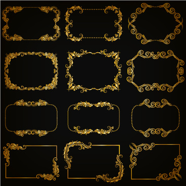 368x368 Gold Frame Vector Free Vector Download (7,840 Free Vector) For