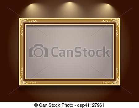 450x350 Gold Frame. Gold Frame,frame,frame Border,photo Frame,frame Vector