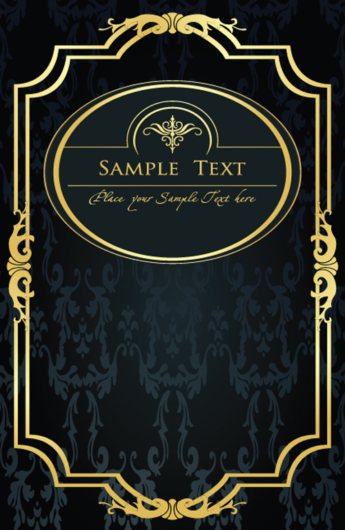 500x768 Gold Lace Frame Vector Set 02 Free Download