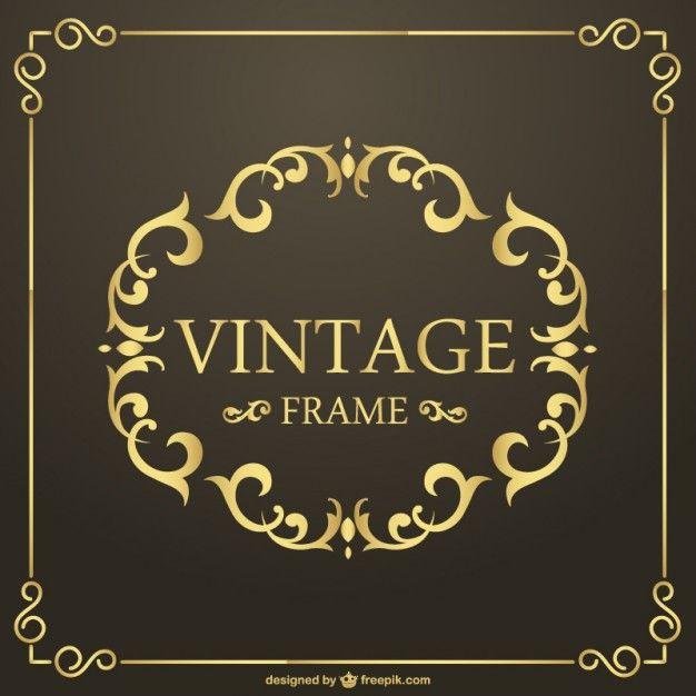 626x626 Vintage Golden Frame Vector (Ai Download) Vektory