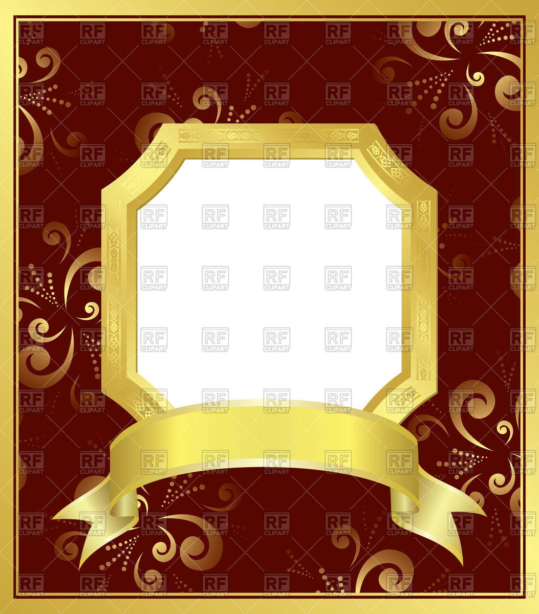 1053x1200 Vintage Luxurious Golden Frame Vector Image Vector Artwork Of