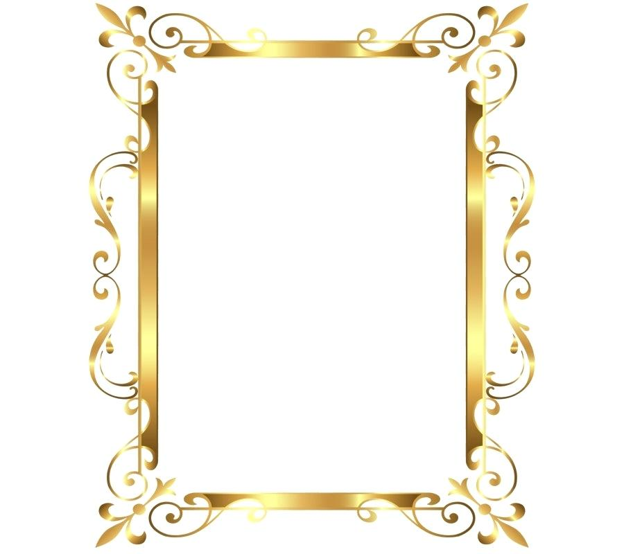 900x800 Gold Frame Border Sarufaromeo.club