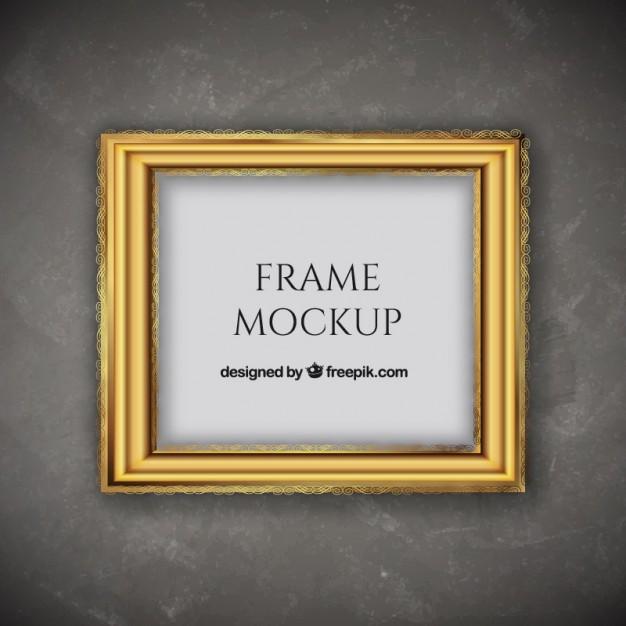 626x626 Decorative Golden Frame Vector Free Download