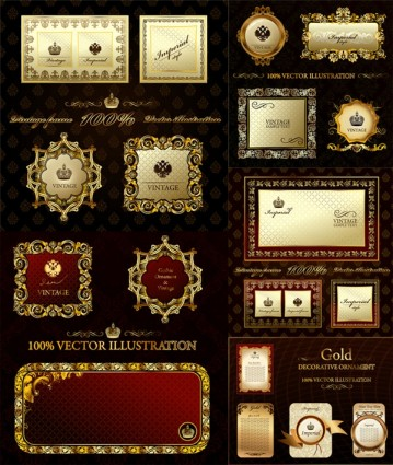 359x425 Elegant Europeanstyle Gold Frame Vector Vector Free Vector